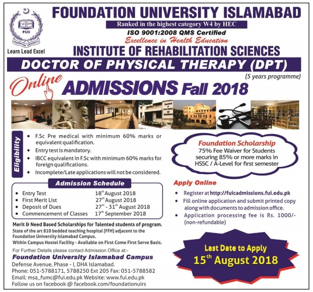 DPT Admissions Fall 2018 Ad 2