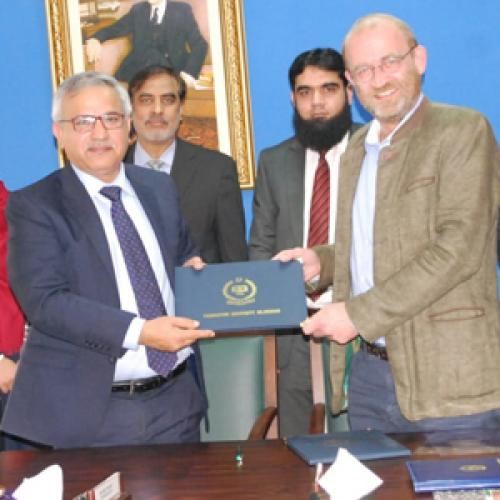 A delegation from Hasselt University, Belgium visited Foundation University, Islamabad on Wednesday, 20th February 2019