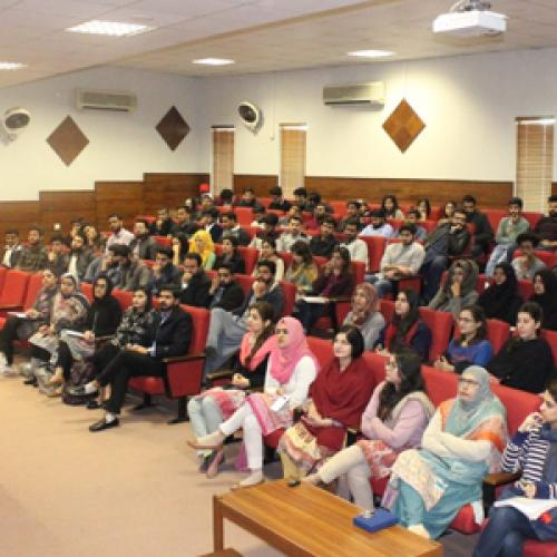 A seminar on Essential Interview and CV Writing Skills at Foundation University Islamabad, Rawalpindi Campus